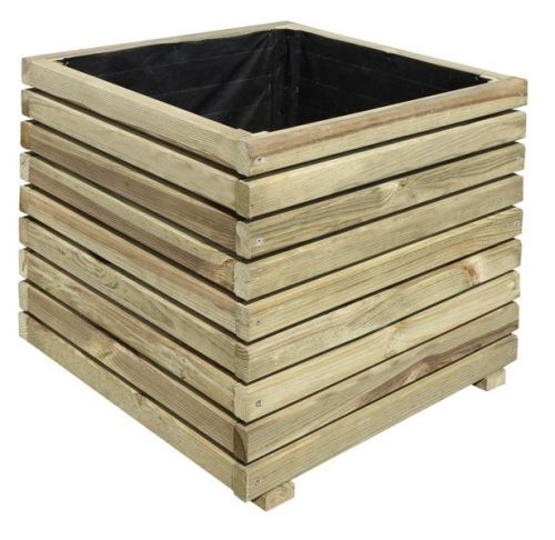 Jardipolys - Bac à fleurs en bois traité carré 50x50x50cm - KUB 50