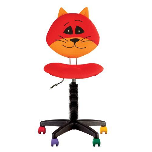 Fauteuil jouet chat, chaise de bureau pour enfant chat rouge