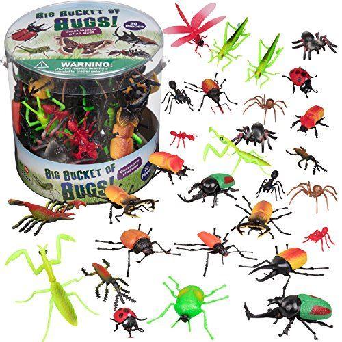 Bug Action Figure - Ensemble de jeu 30 insectes géants (fourmis, tarentule, araignées) - Figurines jouets de grande taille