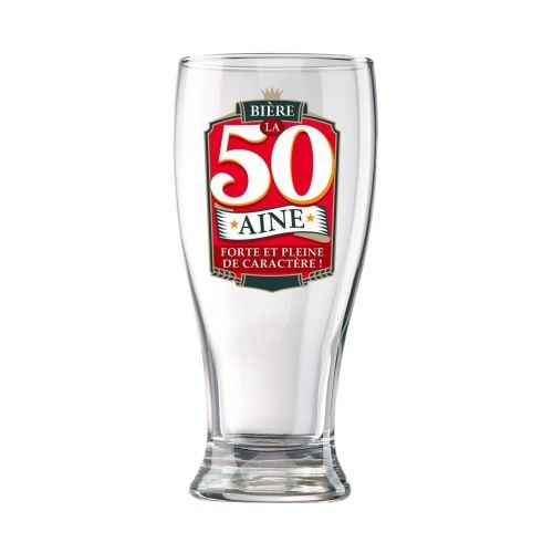 Verre à Bière en Coffret - 50 Ans