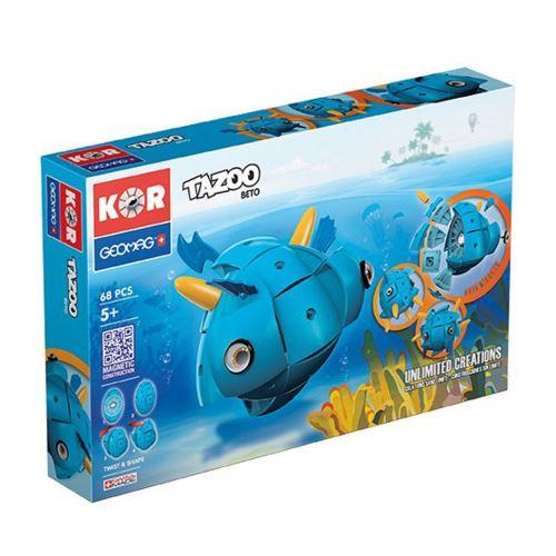 Geomag KOR Tazoo Beto bleu 68 pcs