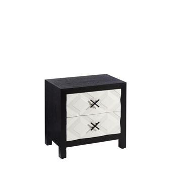 L x NoirBlanc Table 40 l tiroirs 60 MONOI chevet 2 de x thCsrdQx
