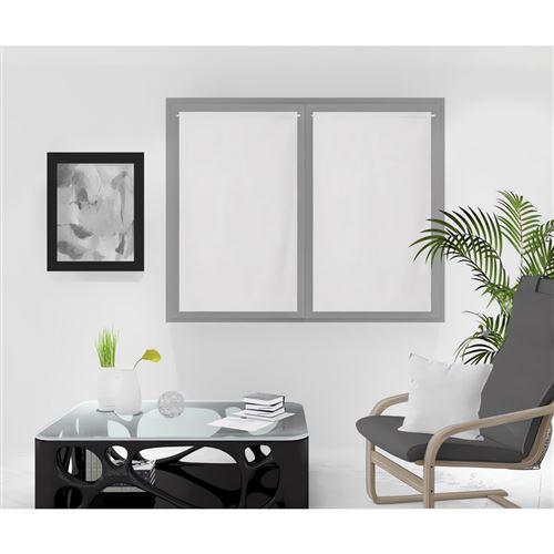 Paire de brise bise lin 60x120 cm LINEN blanc, par Soleil d'Ocre