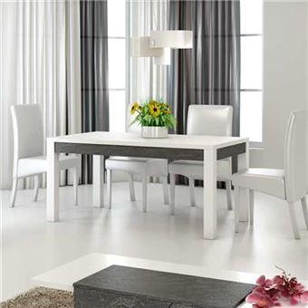 cm 90 design L P H cm LAUREA x à 160 79 blanc 160 x laqué Table manger TKJ3F1cul