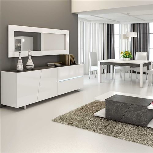 H LAUREA L 160 cm x 90 79 160 cm design Table à P manger blanc laqué x 4L5AR3jq