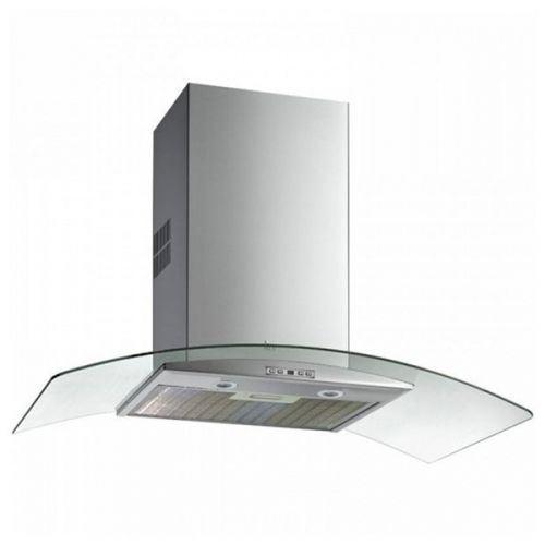 Teka _TOTAL NC 785 - Hotte - hotte décorative - largeur : 70 cm - profondeur : 50 cm - extraction et recirculation (avec kit de recirculation supplémentaire) - inox et verre