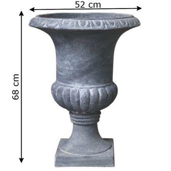 Vasque Vase Pot Jardinière Médicis Fibres de Ciment Gris ø52 ...