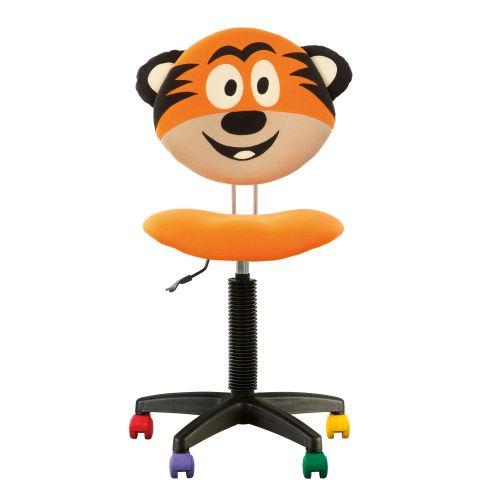 Fauteuil jouet tigre, chaise de bureau pour enfant orange