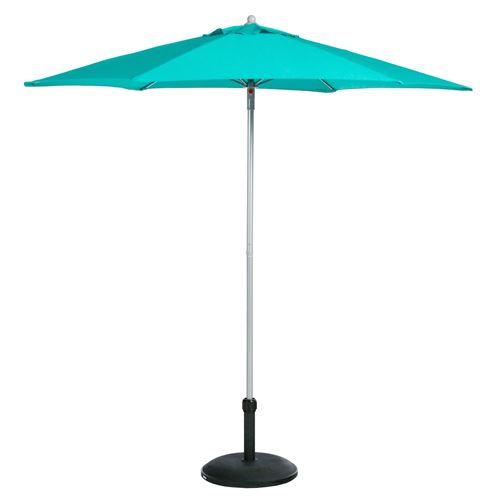 Parasol droit rond Anzio - Diam. 230 cm - Bleu émeraude