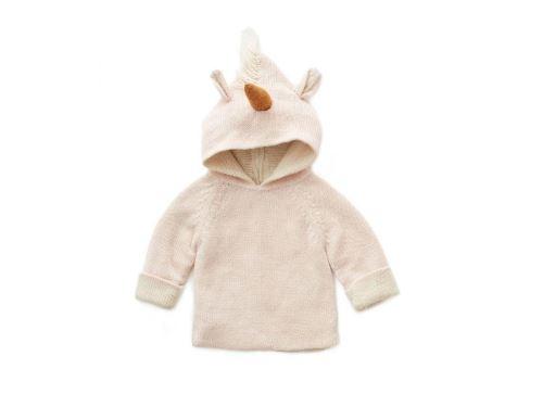 Oeuf Baby Clothes - Pull rose licorne Alpaga 24M