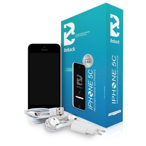 Beback iPhone 5C Smartphone débloqué 4G (Ecran: 4 pouces - 16 Go - Simple Nano-SIM - iOS 7) Blanc