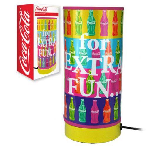 Petite lampe tube Coca-cola multicolore