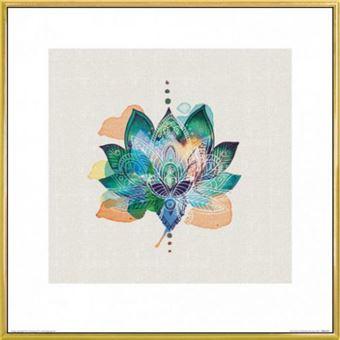Poster Reproduction Encadré Bouddhisme Lotus Flower Summer