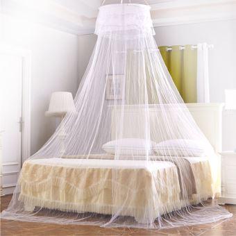 moustiquaire ciel de lit baldaquin pour lit double blanc ciel de lit achat prix fnac - Moustiquaire De Lit