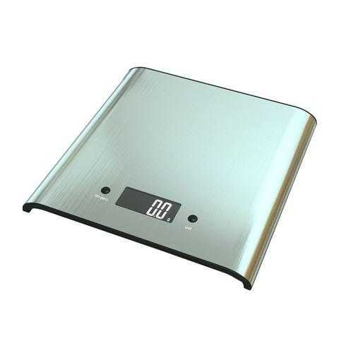 La cuisine électronique Digital balance l'acier inoxydable d'affichage à cristaux liquides d'exactitude 5 kilogrammes - Argent
