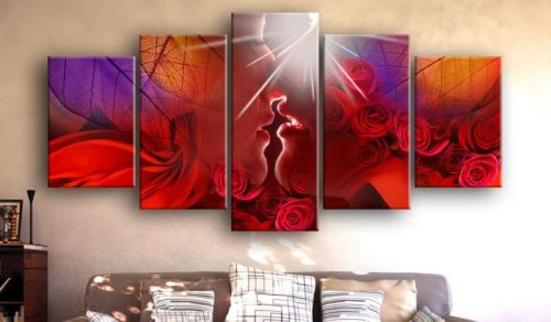 Tableau - Kiss from rose .Taille : 100x50
