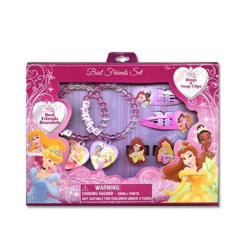 Ensemble de bracelets Disney Princess Best Friends avec accessoires pour bagues par Jersey Bling