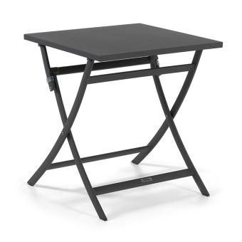 en 70 70 alu Grace x carrée anthracite pliante cm Table qVGjzLMUpS