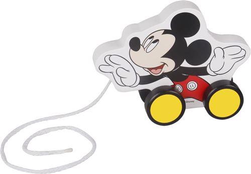 Disney pull figure Mickey Mouse 12,3 cm bois blanc/noir