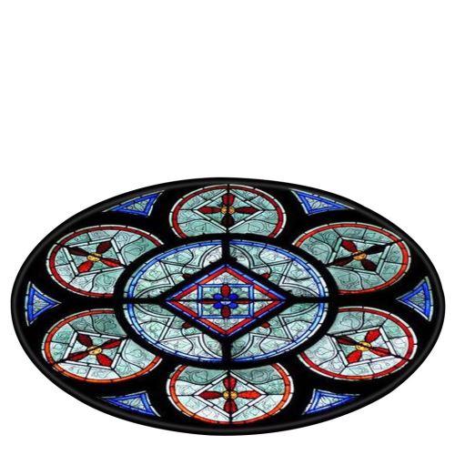 Notre-Dame de fenêtre en verre éléments Couverture ronde de bain tapis 120cm BT549
