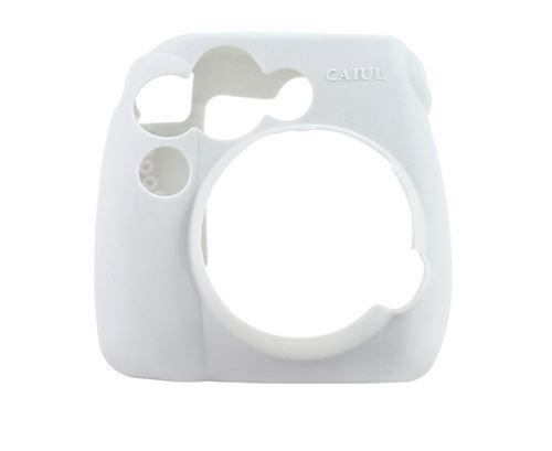 Étui en silicone antichoc pour Fujifilm Instax Mini 8 / 8+ / 9 - Blanc