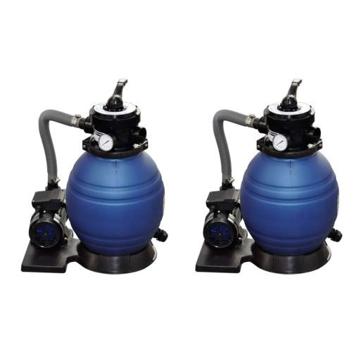 vidaXL Pompes à filtre à sable 2 pcs 400 W 11000 l/h