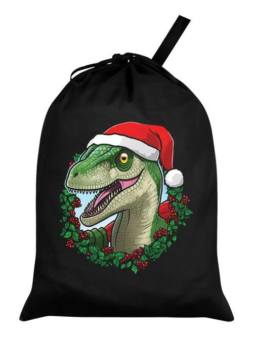 Sac de Père Noël Festive Rex noir