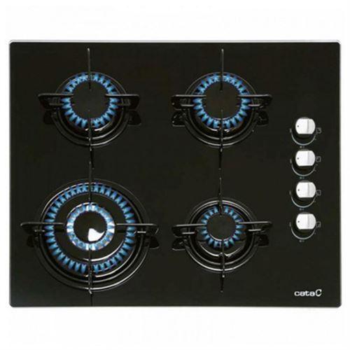 Plaque au gaz Cata CI631BK 1412 60 cm Noir Verre (4 cuisinière)