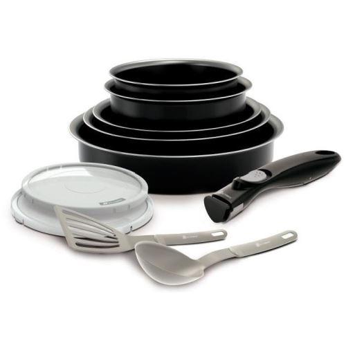 Backen easycook batterie de cuisine set 10 pieces - noir 181001