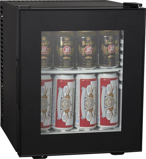 Brandy Best SILENT200GLASS Mini-bar vitré 19 litres Noir totalement silencieux