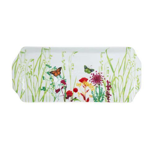 Plat à cake 36 cm tutti fiori - Table Passion - Blanc - Porcelaine