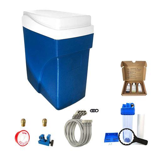 Adoucisseur d'eau sans électricité ultra compact simplex complet avec accessoires