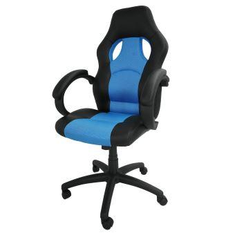 Chaise Pour Gaming Siège De Bureau Racing Bleu Simili Cuir Et