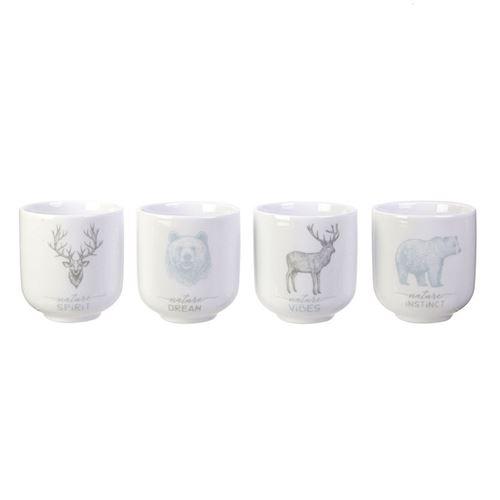 Coffret 4 tasses à expresso SNOW - style scandinave - Du Bruit Dans La Cuisine