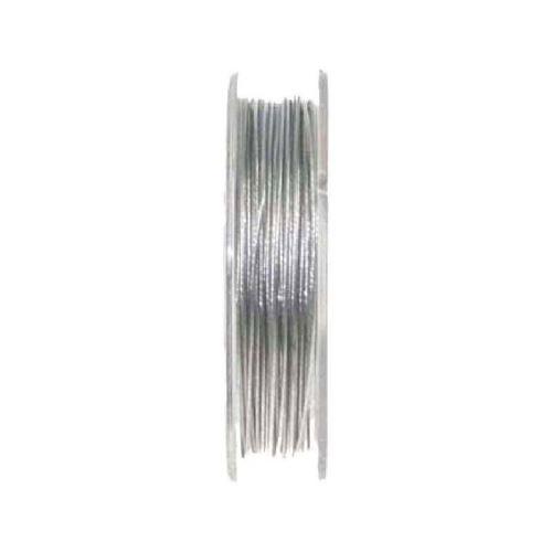 dtm loisirs creatifs - fil cable metal argent 5m