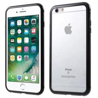 Coque Magnétique iPhone 6 Plus/6S Plus avec Dos en Verre Trempé - Noire