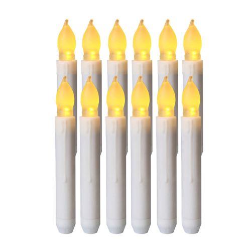Homemory 12PCS LED à piles sans flamme Bougies lumières conicité_Kiliaadk219
