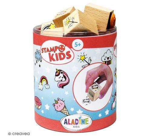 Kit de tampons Stampo kids - Licornes - 16 pcs