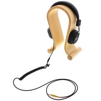 Support Pour Casque Audio Hi Fi En Bois Beige Accessoire Pda Et