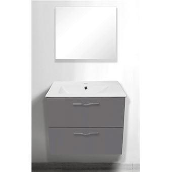 Meuble  suspendre 60 cm Therme gris vasque miroir Achat