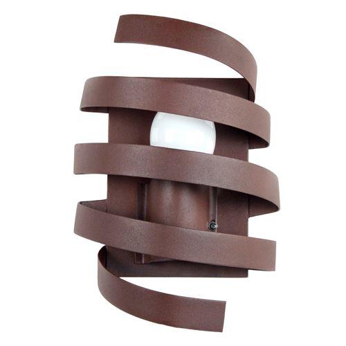 Applique murale spirale en métal hauteur 9.5 cm Barber Pole marron marron