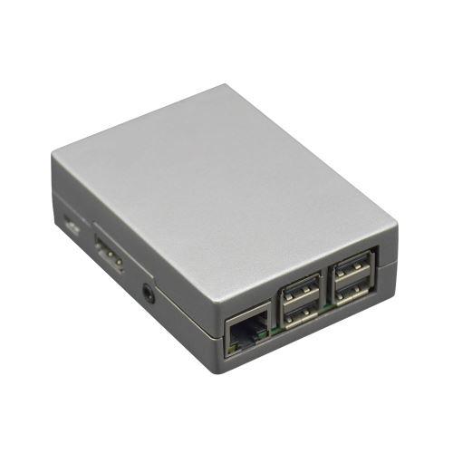 Boîtier de Protection, Boîtier en Alliage d'aluminium de Haute Qualité avec Plaquettes Antidérapantes pour Raspberry Pi 3, Pi 2 et B + avec Sac de Vis