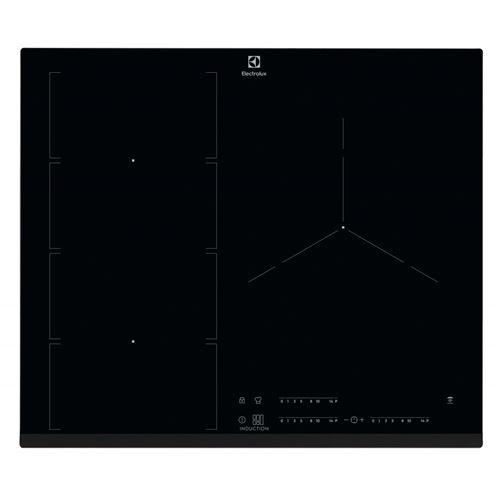 Electrolux EIV653 - Table de cuisson à induction - 3 plaques de cuisson - Niche - largeur : 56 cm - profondeur : 49 cm - noir - avec avant biseauté