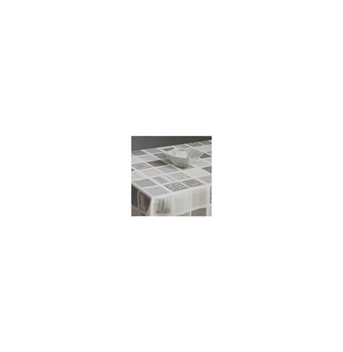 Nappe rectangulaire - 140 x 240 cm - Imprimé cuisine - Gris