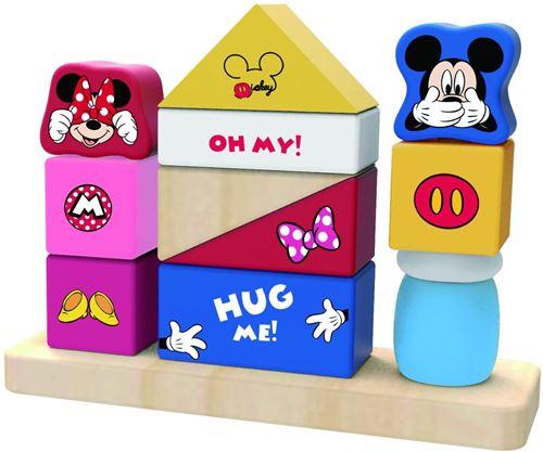 Disney jeu de blocs Mickey Mouse junior 18,5 x 14 cm bois 13 pièces