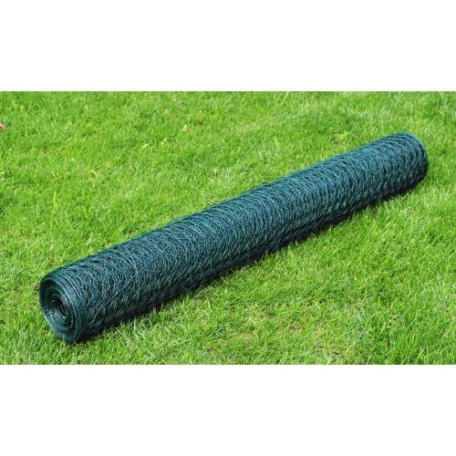 Version mise à jour Grillage Cloture/Bordure de Jardin Décorative/Protection pour Plantes Anti-Rouille Plastifié à Mailles Hexagonales 50cm x 25 m, 0,8 mm - Divers Tailles au Choix
