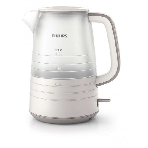 Philips Daily Collection HD9334 - Bouilloire - 1.5 litres - 2200 Watt - blanc étoile / beige soie