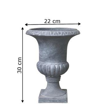 Vasque Vase Pot Médicis Jardinière Cache Pot Gris ø22 cm ...