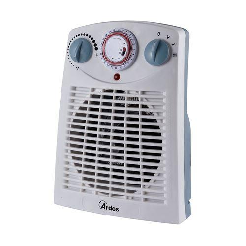 Ardes ar449ti intérieur blanc Fan Electric Space Heater – Chauffage (Fan Electric Space Heater, intérieur, couleur blanc, pivotant, 60 m³, 2000 W)
