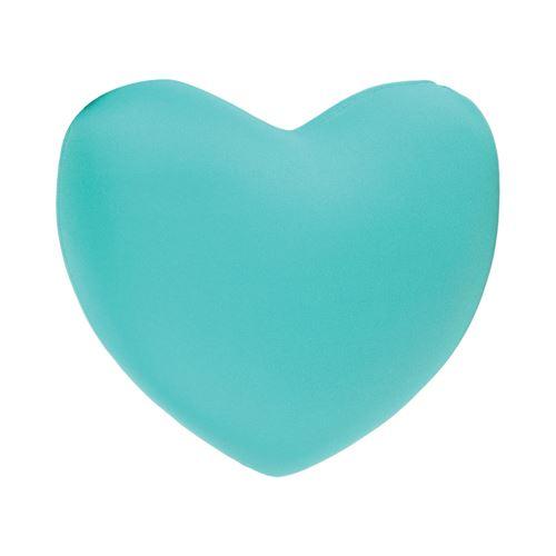 Coussin en microbilles Cœur - Bleu Turquoise